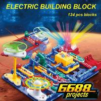 Electronic Blocks Diy Kits Integrated Circuit Building Blocks Circuit Model Kits Science Kids Toys6688