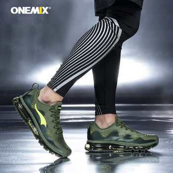 ONEMIX Men Running Shoes Breathable Mesh Air Cushion Sport Shoes Lightweight Outdoor Knit Man Trainers Damping Jogging Sneakers onemix running shoes for women sports shoes sneakers damping air 270 cushion breathable knit mesh vamp for outdoor walking shoes