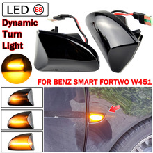 Smoke Clear Lens OEM Fender Side Marker Lamp Turn Signal Light For Smart Fortwo 451 MK1 & MKII 2007 2014