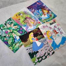 Alice cartoon girls print fabric, handmade DIY sewing children patchwork 100% cotton canvas(China)