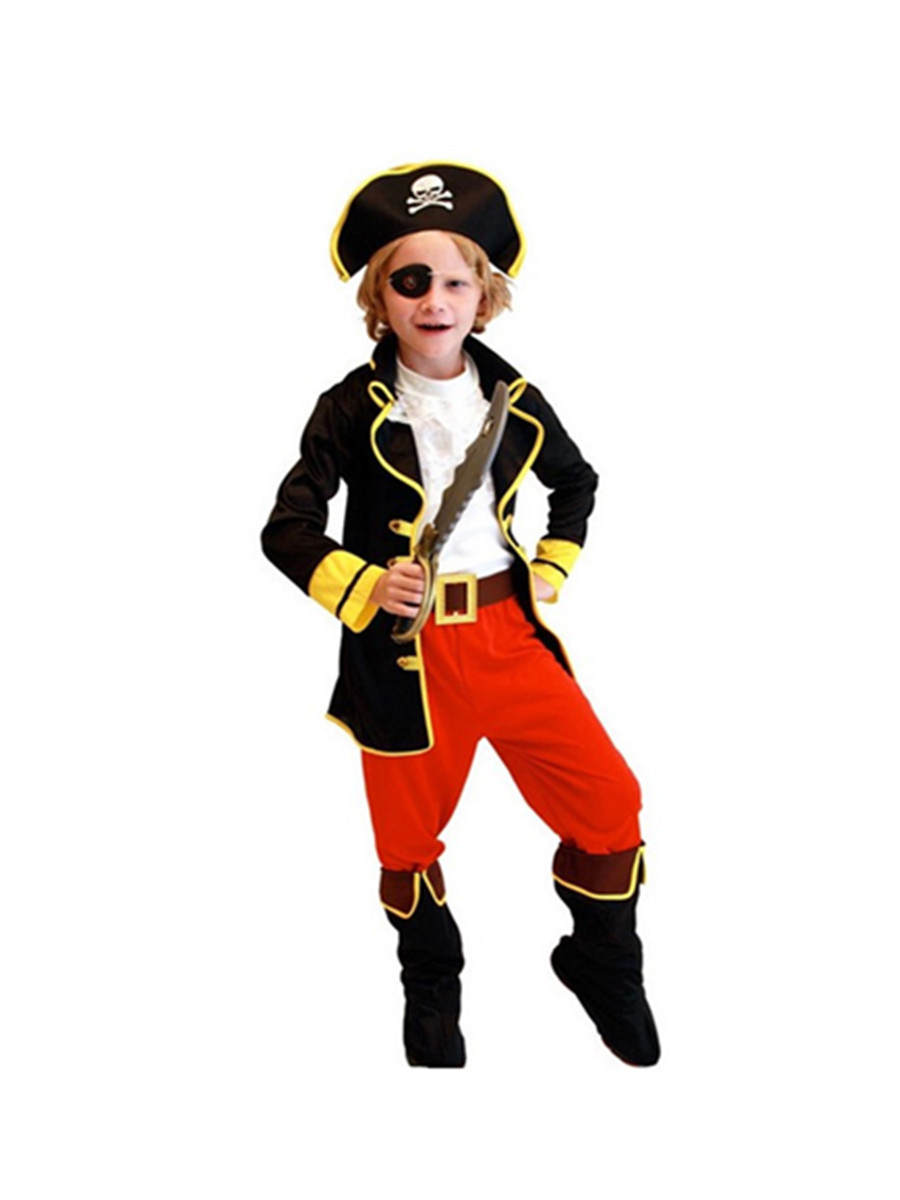 Pirate Costume Cosplay-Set Fancy Dress Purim Christmas Carnival Party Kids Boys Children