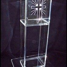 Органическая стеклянная церковная кафедра/акриловая кафедра церкви