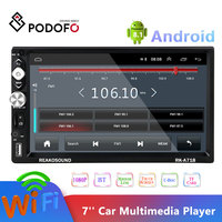 Podofo 2din Andriod Car Radio 7'' Touch Screen MP5 Bluetooth USB AUX TF Autoradio Multimedia Player Android Phone Mirror Link