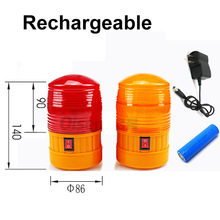strobe light mini red portable with battery rechargeable orange flashing siren emergency warning  lamp lights