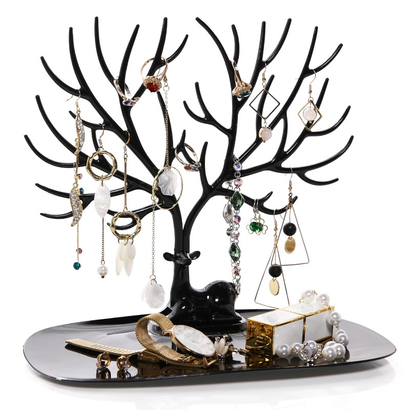 Jewelry Necklace Earring/Ring/Braclet Deer Stand Display Organizer Holder Show Rack  Gift Home Storage Decoration Jewelry Holder