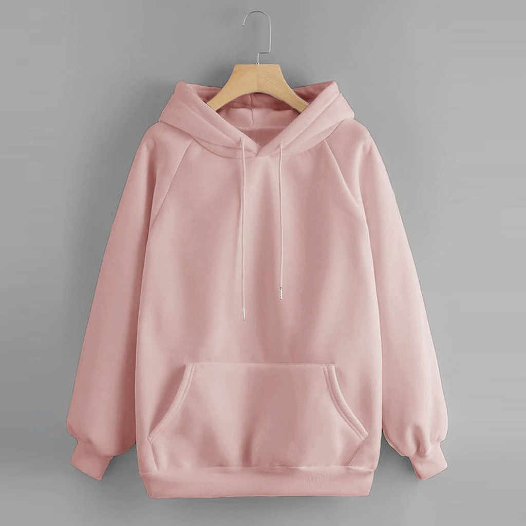 Autumn Winter Hooded Sweatshirt Pullover Women's Hoodies Casual Solid Hoody Pocket Outwear Coats Female Pullover Sweatshirt