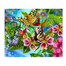 Diamant Schilderij 5D DIY Mozaïek Vlinder Volledige Vierkante Boor Foto Van Strass Borduurwerk Handgemaakte