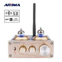Aiyima aptx bluetooth 5.0 tubo pré-amplificador 6j1 tubo de vácuo amp preamp diy estéreo casa pré amplificador de potência com controle de tom
