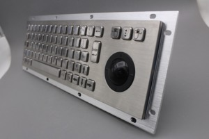 Image 3 - Stainless Steel Industrial Metal Keyboard With Trackball 36mm Conductive Rubber Rugged Panel Mount Keypad For Information Kiosk