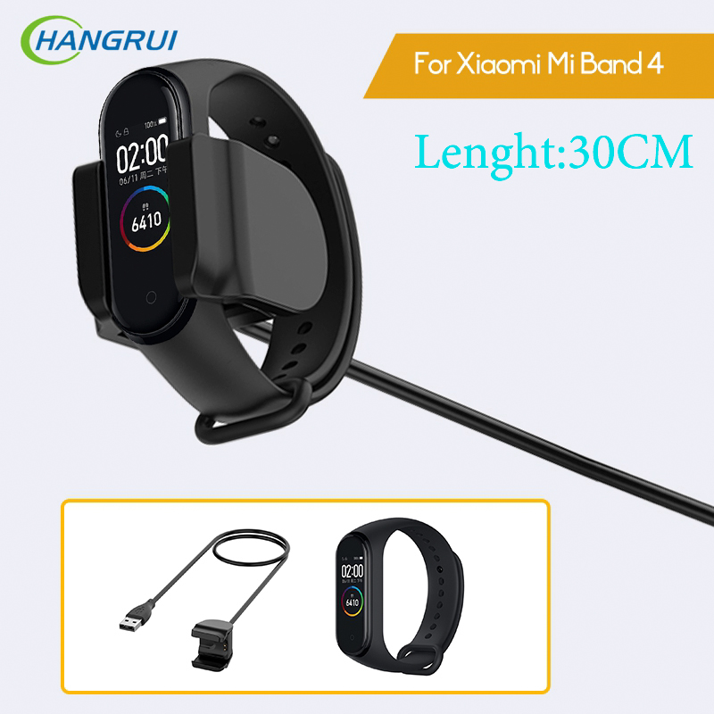 Hangrui For Xiaomi Mi Band 3 4 Charger Cable Smart Wristband Charging Wire For Xiaomi Mi Band 2 USB Charging Cord Adapter Wire