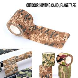 Camo Plakband Stof Zelfklevende Roll Camping 4.5 M Niet geweven Rifle Accessoires Stretch Bandage Hunting Rifle tape-in Blind & Boom Stand van sport & Entertainment op