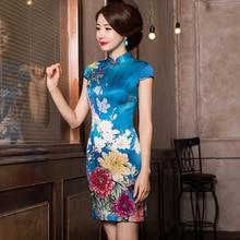 2019 Cheongsam קלאסי מאולתר גרסאות של בדרגה גבוהה קצר יומי סעיף לטפח מוסר שמלה גבוהה איכות מוצרים