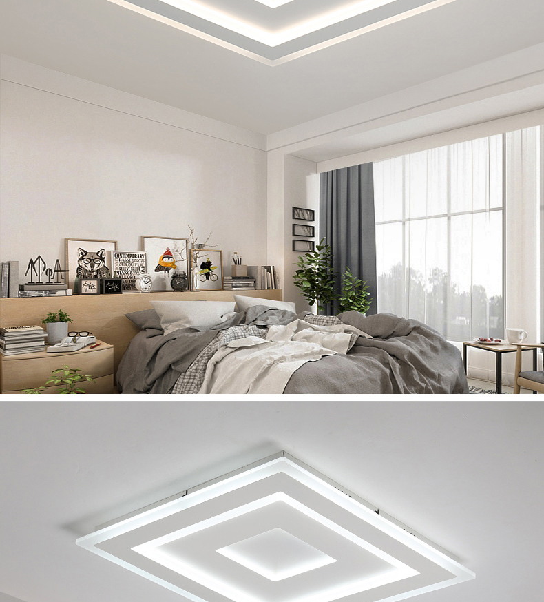 H19740dff6b90406db52b2746902d1ccdc Surface Mounted Modern Led Ceiling Lights for living room bedroom Ultra-thin lamparas de techo Rectangle Ceiling lamp fixtures