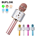 BUFLOIK Professional Bluetooth Wireless Microphone Handheld Karaoke Mic USB Mini Home KTV For Music Player Singing Recorder Mic