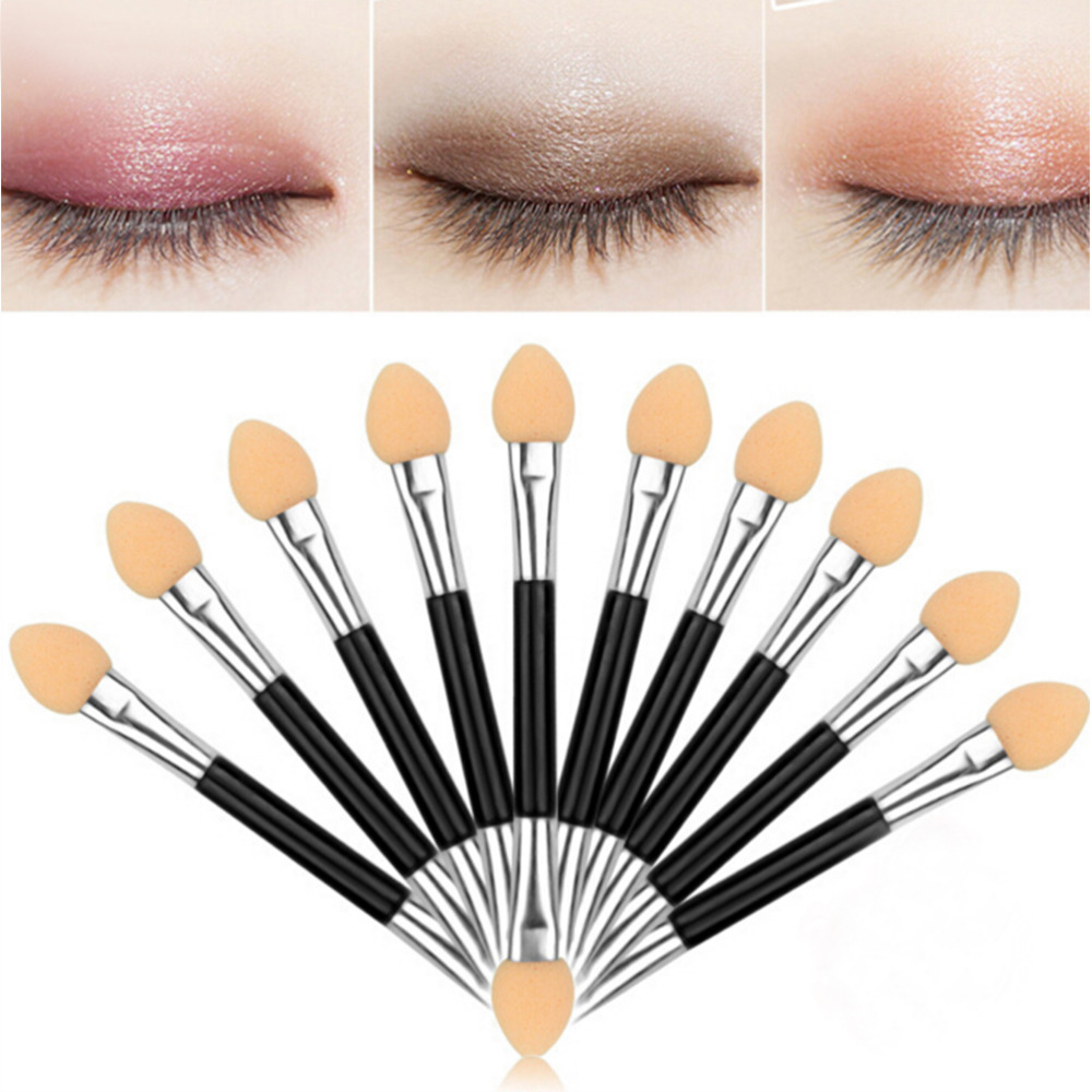 12 Pcs Double-ended Sponge <font><b>Eye</b></font> <font><b>Shadow</b></font> <font><b>Applicator</b></font> Tools Disposable Eyeshadow <font><b>Applicator</b></font> Brushes Cosmetic Tools For Women Lady image