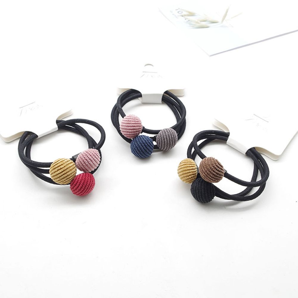 3pcs/set Fashion Girl Star Heart Round Geometry Hair Rope Cloth Buckle Simple Hair Elastic Hair Rubber Bands Accessories Fashion Accessories
