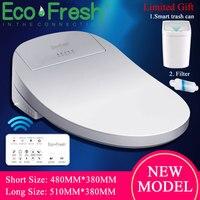 Ecofresh Thông Minh Điện Thông Minh Hyundae Bidet Bao Da Thông Minh Bidet nóng ghế ngồi vệ sinh LED WC thông minh Bàn cầu nắp