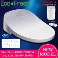 Ecofresh inteligente asiento de inodoro eléctrico Bidet cubierta inteligente Bidet calentador asiento de inodoro luz Led Wc tapa de asiento de inodoro inteligente