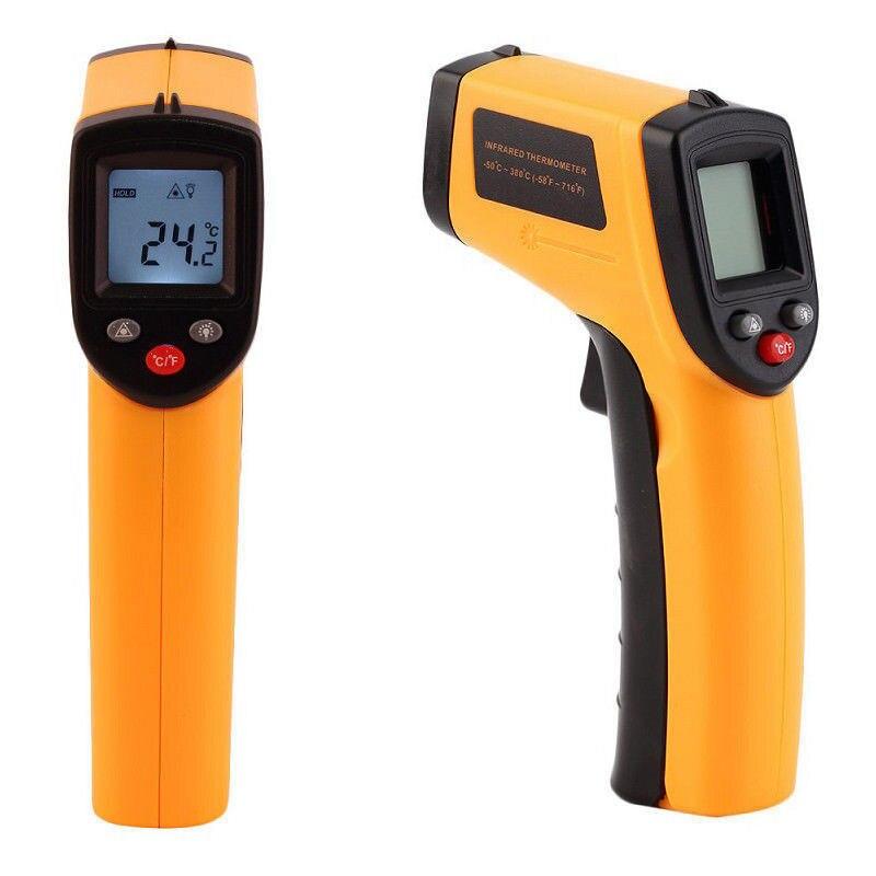 Цифровой инфракрасный термометр GM320 с ЖК-дисплеем, пистолет с ИК лазерной точкой, тепловой Промышленный пирометр, ручной инфракрасный изобр...