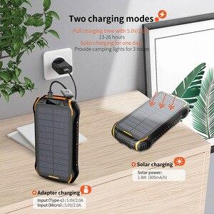 Image 3 - 태양 보조베터리 QI 3.0 방수 보조베터리 배터리 Poverbank 휴대용 충전기 LED LCD 26800mah 솔라 공급