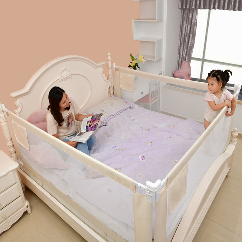Height Adjustable Baby Gate for Bed with Rails to Protect Newborns and infants From Falling 1