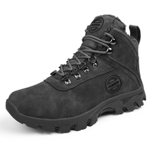 Outdoor Men's Boots Lightweight Mid Hiking Boots Cold-Weather Durable Boots Snow Boots Men  Genuine Leather  Combat Boots men s boots outdoor hiking leather boots travel boots young men boots canvas boots 903