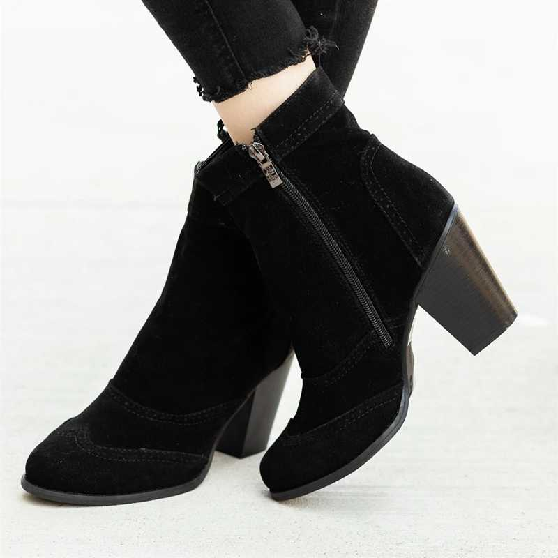 PUIMENTIUA ฤดูหนาวรองเท้าผู้หญิงรองเท้าส้นสูง Slip ฤดูหนาวถุงเท้ายืดรองเท้า Elegant Square รองเท้าส้นสูงรองเท้าผู้หญิง