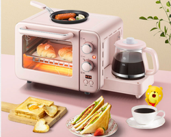 Multifunction 3 in 1 breakfast machine 8L Electric mini Oven Coffee maker eggs frying pan household bread pizza oven grill
