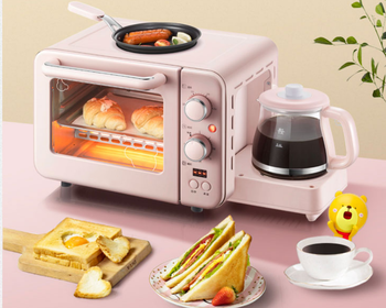 Multifunction 3 in 1 breakfast machine 8L Electric mini Oven Coffee maker eggs frying pan household bread pizza oven grill цена 2017