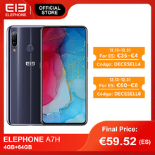 In Stock ELEPHONE A7H Smartphone 4GB 64GB Helio P23 Octa Core 6.4 Screen 13MP Triple Rear Cameras Android 9.0 3900mAh Battery