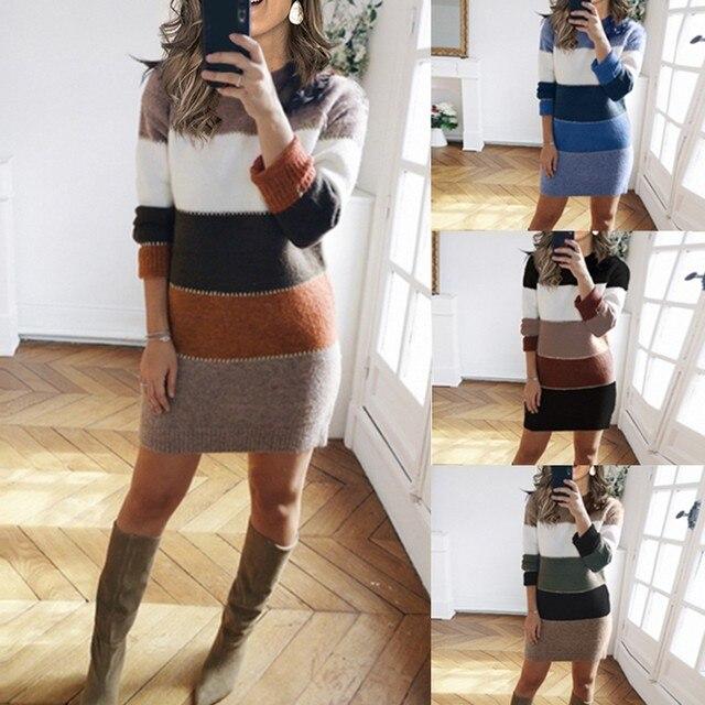 Striped Sweater Day Dress 2