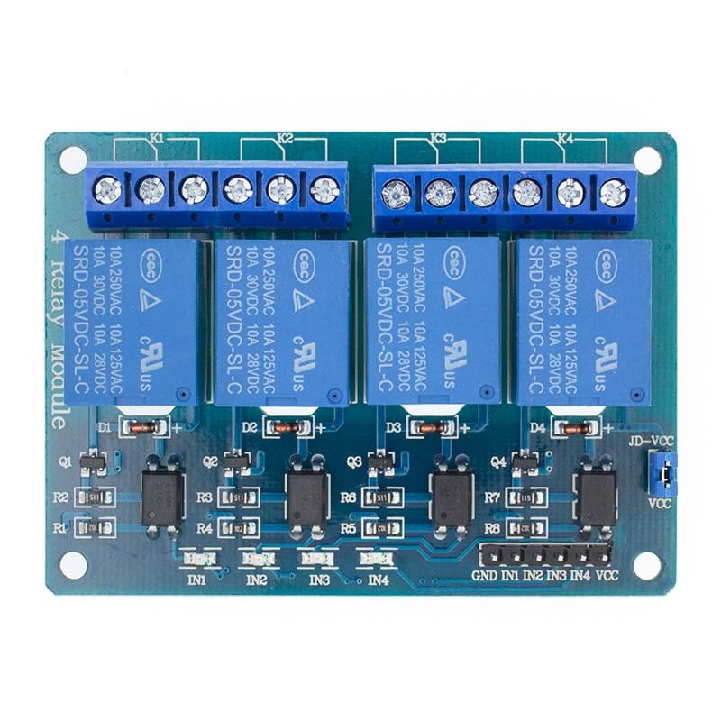 5v 1 2 4 8 канальный релейный модуль с оптроном. Релейный выход X way релейный модуль для arduino 1CH 2CH 4CH 8CH - Цвет: 4CH