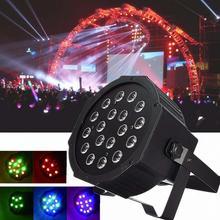 18W RGB LED Stage Light Par DMX-512 Lighting Laser Projector Party DJ Light Manual Automatic DMX512 For Disco Bar Wedding Party