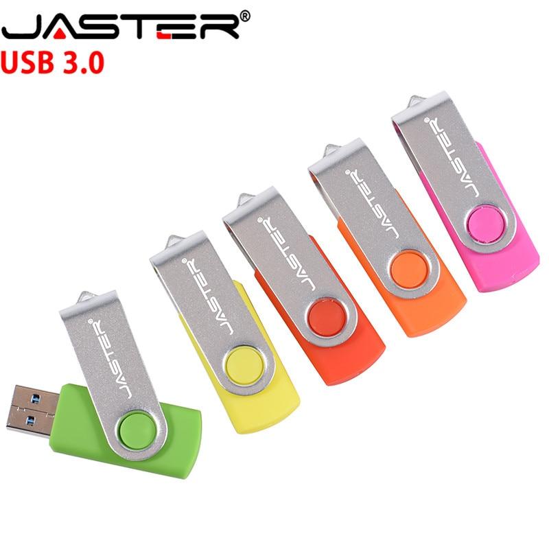 JASTER  D303 USB Flash Drive Usb Stick 3.0 Pen Drive 128GB 64GB 32GB 16GB 8GB 4GB Rotating Usb Memory Stick Pendrive
