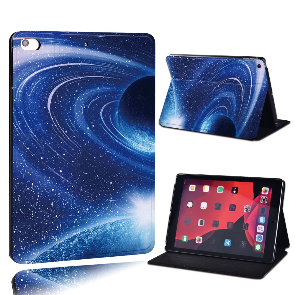 18.blue planet Rose Red For Apple iPad 8 10 2 2020 8th 8 Generation A2428 A2429 PU Leather Tablet Stand