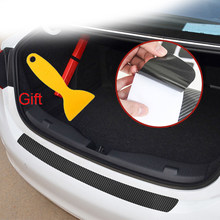 Car Styling Carbon Fiber Car Rear Bumper Trunk Stickers For Ford Taurus Mondeo Galaxy Falcon Everest S-MAX Escort(China)