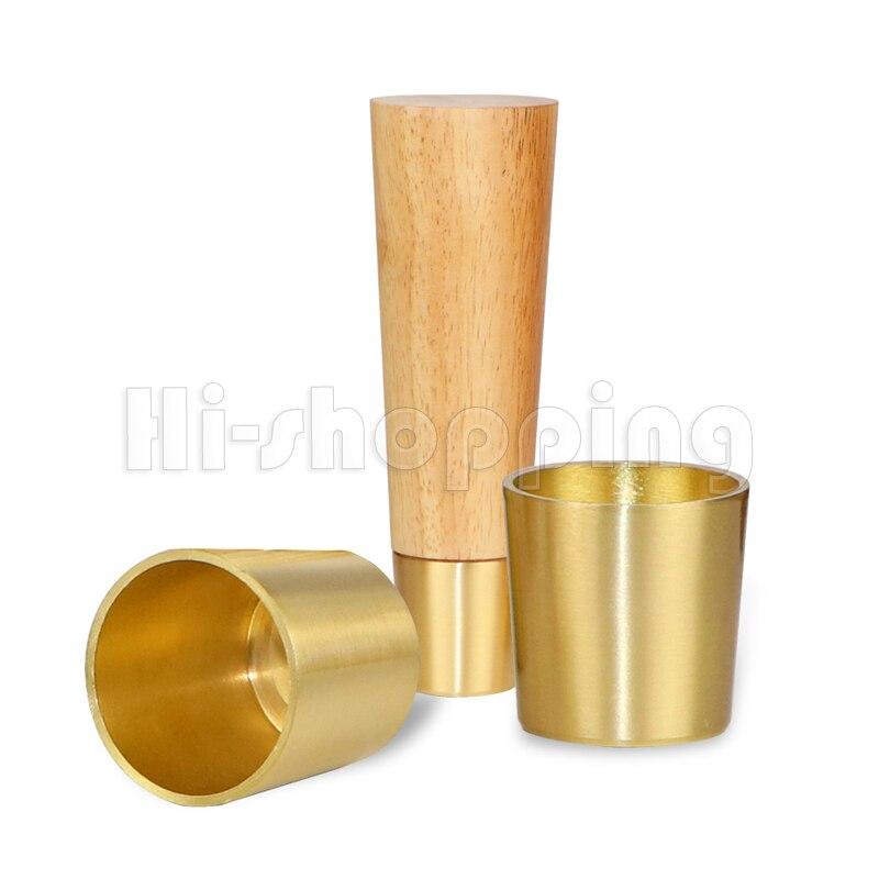 Купить 4 шт твердые деревянные ножки для мебели с чистый медь защитный