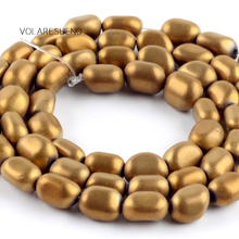 Natural Matte Irregular Golds Hematite Stone Round Loose Beads For Jewelry Making 5-8mm Spacer Fit Diy Bracelet 15''Strand