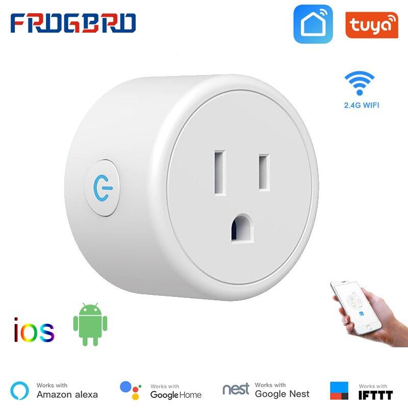 Смарт-розетка FROGBRO с поддержкой Wi-Fi, 110-240 В