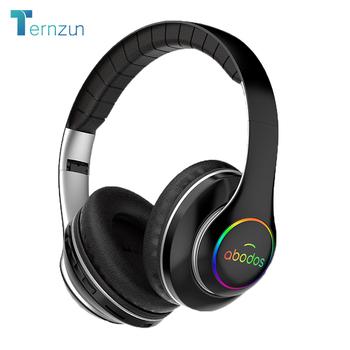 1000mAh bateria bezprzewodowy zestaw słuchawkowy 20H czas odtwarzania słuchawki z Bluetooth składany LED Light 3D stereo słuchawki do gier 6 trybów korektora tanie i dobre opinie Ternzun Dynamiczny Bezprzewodowy + Przewodowe 123dBdB Nonem Do Gier Wideo Wspólna Słuchawkowe Dla Telefonu komórkowego