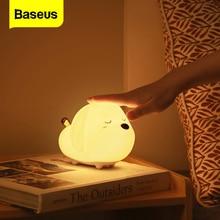 Baseus Cute Night Light Touch Sensor Animal Cat Dog RGB Color LED Night Lamp Light For Baby Children Kid Bedroom Decorative Lamp