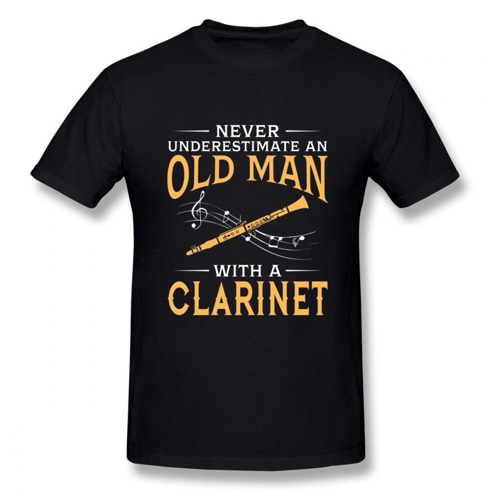 Nunca subestime A un viejo con un clarinete T Shirt Boy cuello redondo Camiseta 3D estampado camisetas chicos Punk diseñador Streetwear