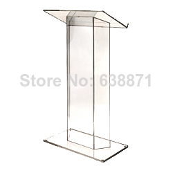 Free Shiping Popular Transparent Knockdown Acrylic Lectern For School