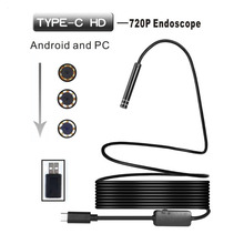 Type-c/USB-C Endoscope Camera 8.0mm Hard Pipe Detection 3/5/10m Mini For Computer Android Phone