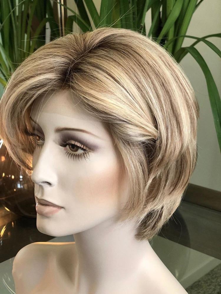 Best Quality European Virgin Hair Jewish Wigs Short Hair Pixie Wig Silk Base Jeiwsh Kosher Wig