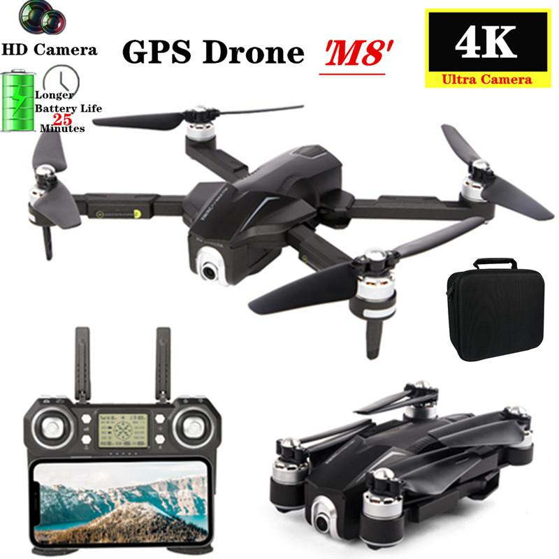 GPS RC Drone M8 5G WIFI FPV 4K Ultra HD Camera GPS Optical Flow Positioning Quadcopter Pro Selfie Camera Fly 28 MinsVS F11 SG906 image
