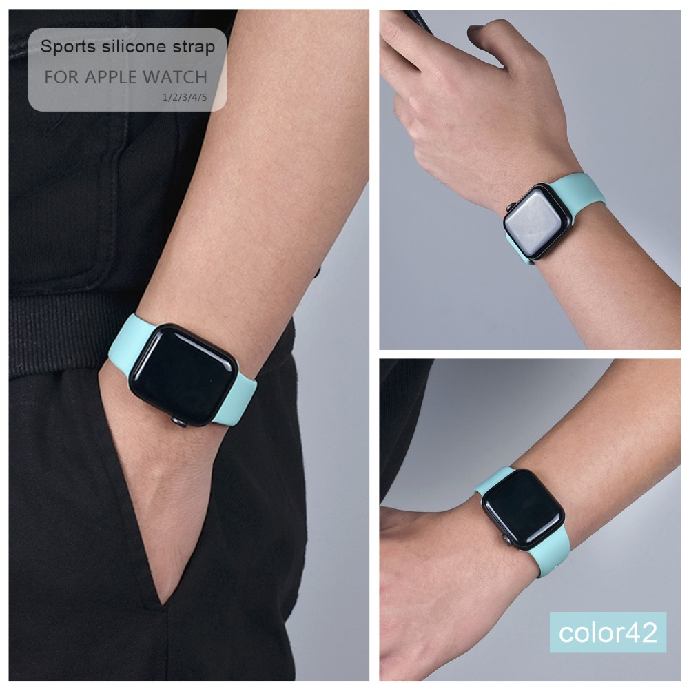 Soft Silicone Band for Apple Watch 98