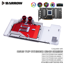Full-Covered Barrow Water-Block BS-AST3090-PA Asus Tuf VGA 3pin for 3090/aurora LRC 5V