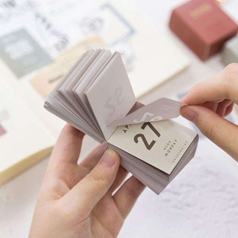 2020 Mini Desktop Calendar Daily Planner Book Annual Agenda Organizer Paper DIY