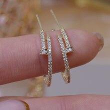 Orecchini in cristallo placcato in oro 14 carati con gioielli di moda per orecchini eleganti da donna